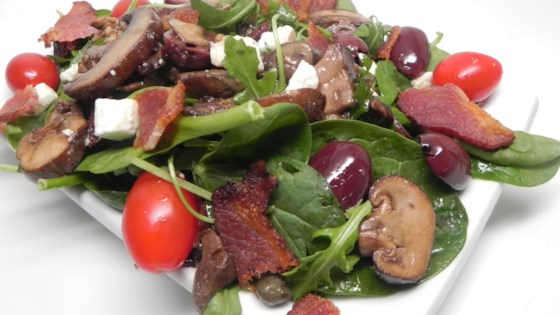 Photo of Warm Mushroom Salad with Pancetta by nicchik