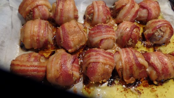 Photo of Giant Bacon-Wrapped Meatballs by Jen Swanson