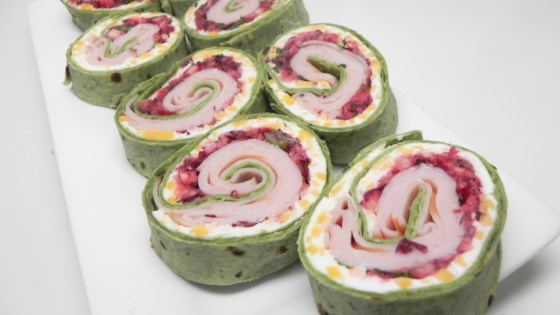 Photo of Spicy Turkey and Cranberry Pinwheels by Soup Loving Nicole