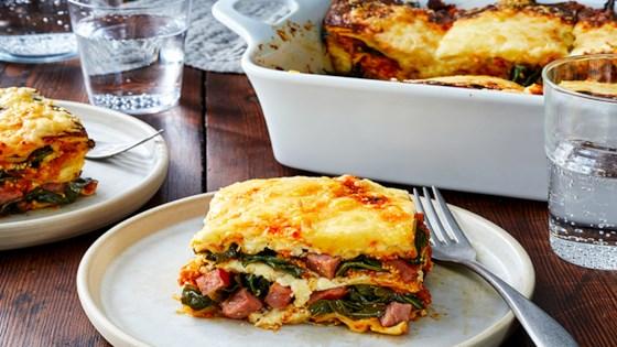 Photo of Smoked Sausage, Pumpkin, and Collard Greens Lasagna by Hillshire Farm® Brand