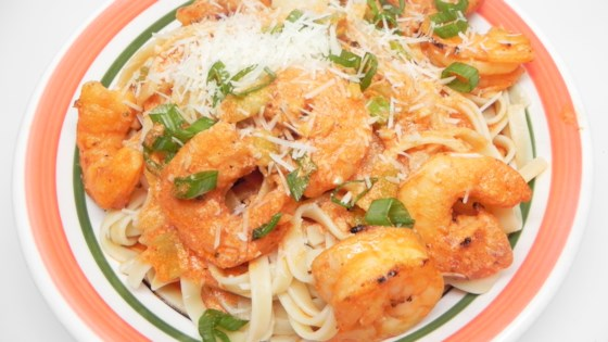 Photo of Quick Seafood Pasta with Shrimp in Pink Cream Sauce by nch