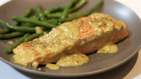 Photo of Pan-Fried Salmon in Curry Cream Sauce by heidi_k