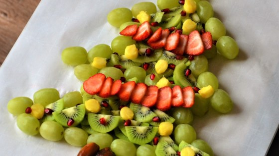 Photo of Christmas Tree Fruit Platter by Kim