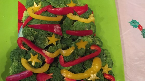 Photo of Vegetable Christmas Tree with Broccoli by barbara