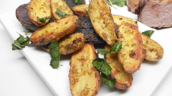 Photo of Mustard-Dill Roasted Fingerling Potatoes by Soup Loving Nicole