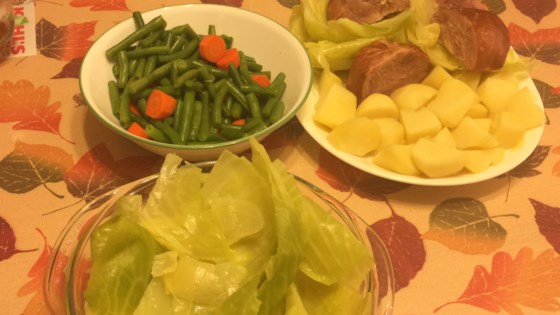 Photo of Dot's Ham, Cabbage, and Potatoes by Dot's daughter, Patti