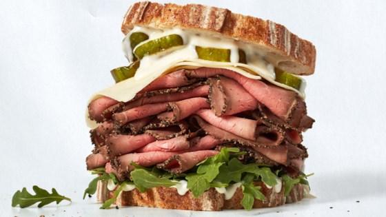 Photo of Stacked-High Roast Beef Sandwich by Dietz & Watson