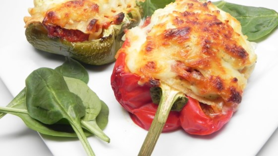 Photo of Lasagna-Stuffed Peppers  by Soup Loving Nicole