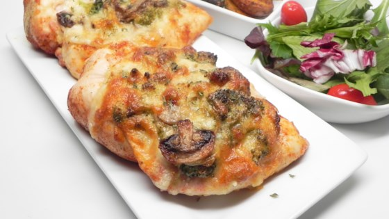 mushroom broccoli and cheese stuffed chicken review by gina
