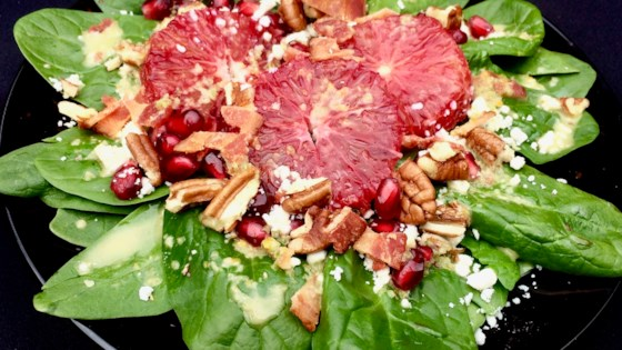 Photo of Blood Orange and Spinach Salad with Jalapeno Vinaigrette by Bibi