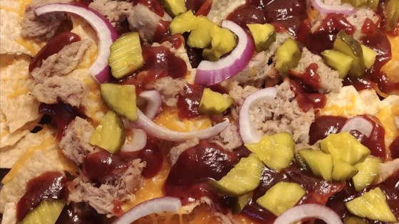 Photo of Baked BBQ Pulled Pork Nachos by Chef Mo