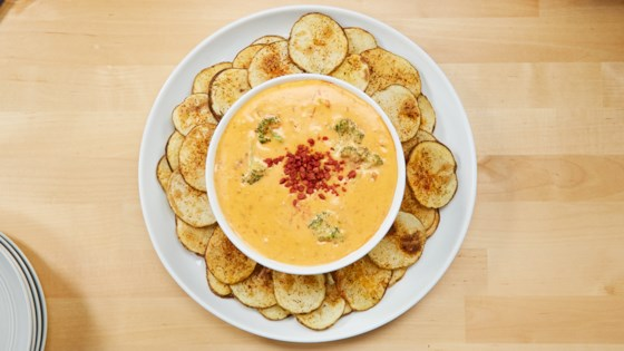 Photo of Broccoli-Cheese Dip with Potato Dippers by Reynolds Kitchens®