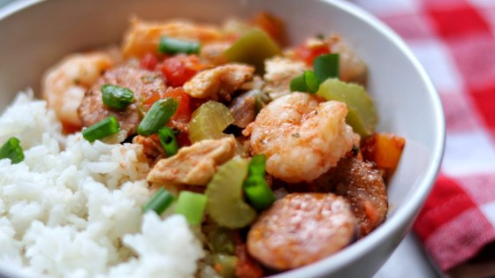 Photo of Instant Pot® Jambalaya with Shrimp and Chicken  by fabeverydayblog