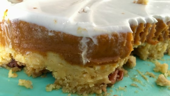 Pumpkin Crunch Cake With Cream Cheese Frosting Recipe Allrecipes Com