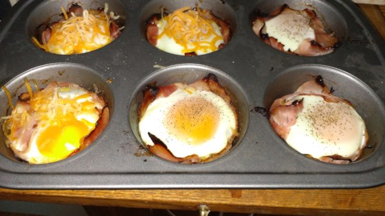 Photo of Breakfast Ham and Egg Cups by bubbad816