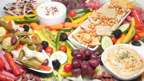 Photo of Greek-Inspired Snack Board by Soup Loving Nicole