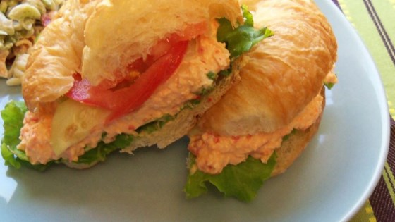 Photo of Chicken and Red Bell Pepper Salad Sandwiches by katie_luvs2bake!