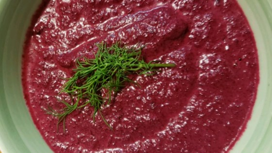 Photo of Creamy Beet With Dill Soup by USA WEEKEND columnist Pam Anderson