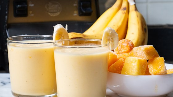 Image result for Banana, Mango, and Vanilla Smoothie