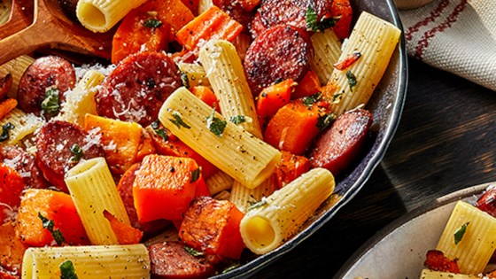 Photo of Smoked Sausage and Butternut Squash Pasta by Hillshire Farm® Brand