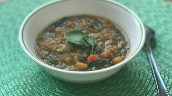 Photo of Sweet Potato and Red Lentil Soup by Stephanie Jo