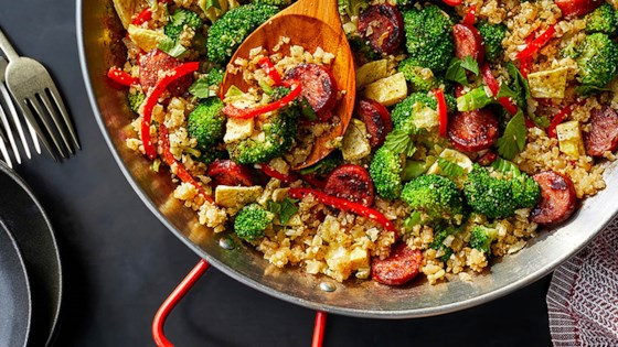 Photo of Smoked Sausage and Cauliflower Fried Rice by Hillshire Farm® Brand