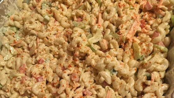 Photo of Healthier Classic Macaroni Salad by MakeItHealthy