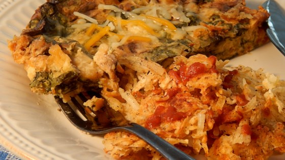 Photo of Egg, Spinach, and Mushroom Slow Cooker Casserole by ajancooks