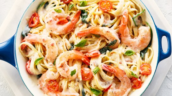 Photo of CAMPBELL'S® One-Pot Linguine with Bacon and Shrimp by Campbell's Canada