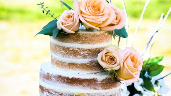 Photo Of White Almond Wedding Cake By CUPYCAKESMURF