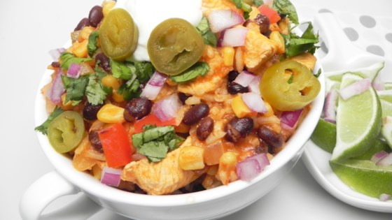Photo of Instant Pot® Chicken Burrito Bowl by Soup Loving Nicole