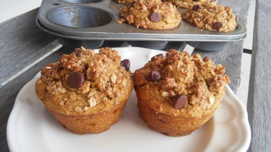 Photo of Pumpkin-Banana-Oat Muffins by Alyssa Parisette-Sparks