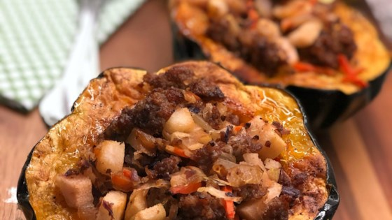 Photo of Sausage-and-Pear-Stuffed Acorn Squash by Diana71