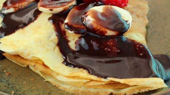 Photo of Dessert Crepes with Homemade Chocolate Sauce by Naschkatze