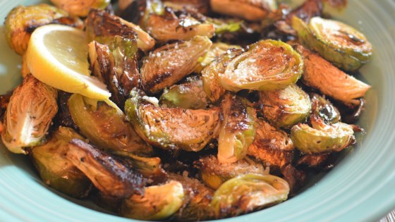 Photo of Roasted Brussels Sprouts with Parmesan and Lemon by healthnut