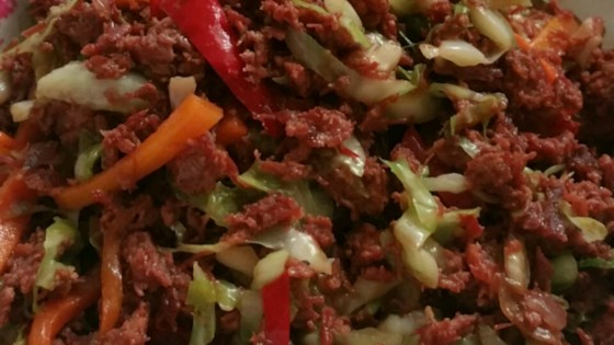 Photo of Beef Tip Salad Topping by Chantelle