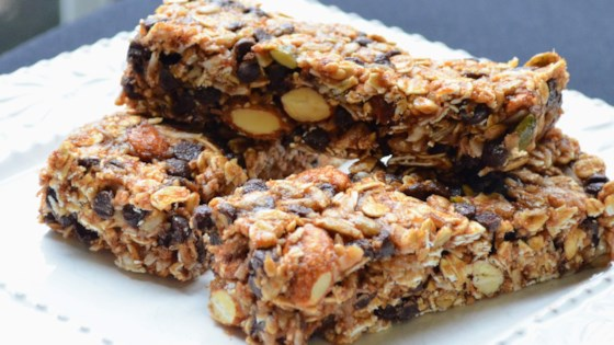 Photo of Chocolate Chip Coconut No-Bake Granola Bars by barbiecooks