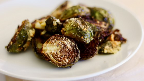 Photo of Garlic-Parmesan Roasted Brussels Sprouts by BessieMo