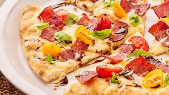 Photo of Turkey Bacon Flatbread Pizza by Pure Farmland