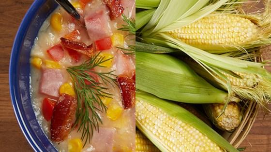 Photo of Creamy Bacon, Ham, & Corn Soup by Pure Farmland
