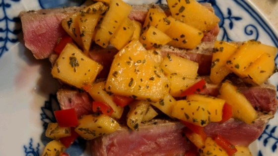 Photo of Tuna Steaks with Melon Salsa by Ingrid