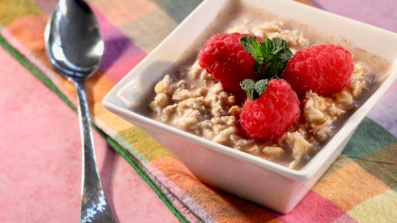 Photo of Overnight Oatmeal with Fresh Raspberries by Kris Landwehr