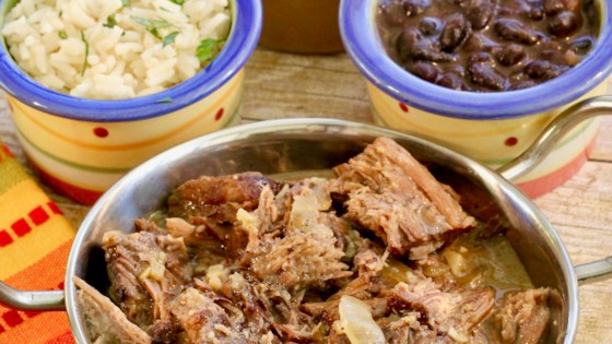 Photo of Shredded Slow Cooker Cuban Beef by Katie