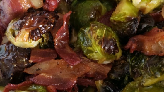 Photo of Maple Roasted Brussels Sprouts with Bacon by stefychefy