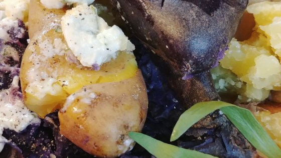 Photo of Fingerling Potatoes with Tarragon Chive Butter by Peggy Oliver