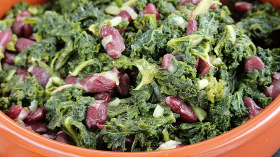 Photo of Braised Kale and Beans by awaugh