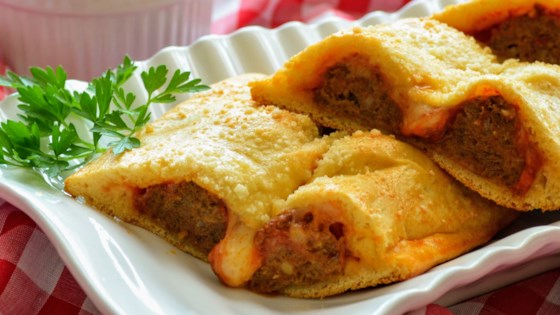 Photo of Cheesy Italian Meatball Pockets by Kim's Cooking Now