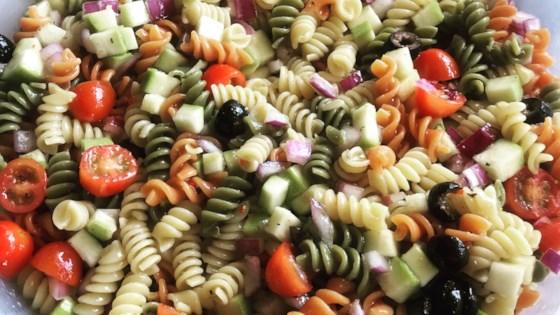 Photo of Rainbow Pasta Salad II by JENNIEANNE