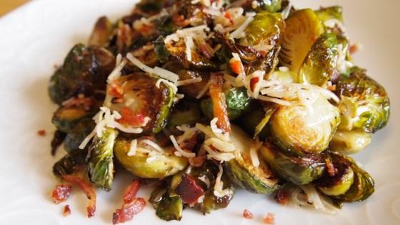Photo of Garlic-Roasted Cheesy Brussels Sprouts by MottK.