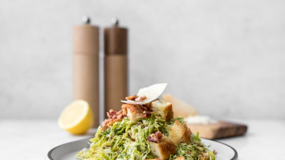 Photo of Shaved Brussels Sprouts Caesar Salad  by Chef Sous Chef